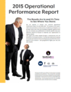 Download the complete 2015 Operational Performance Report.